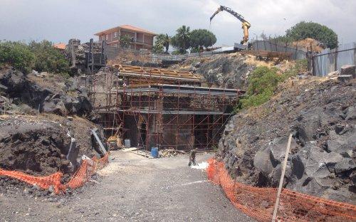 3a campagna di scavi posizionamento travi tetto (2015)