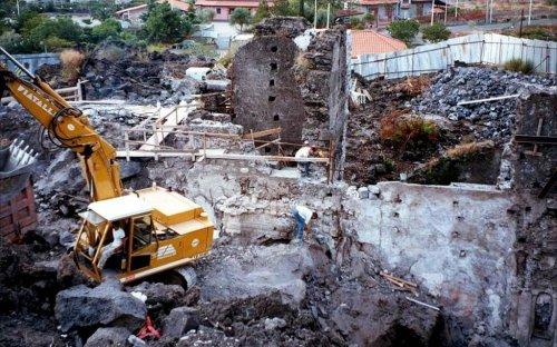 La prima campagna di scavi